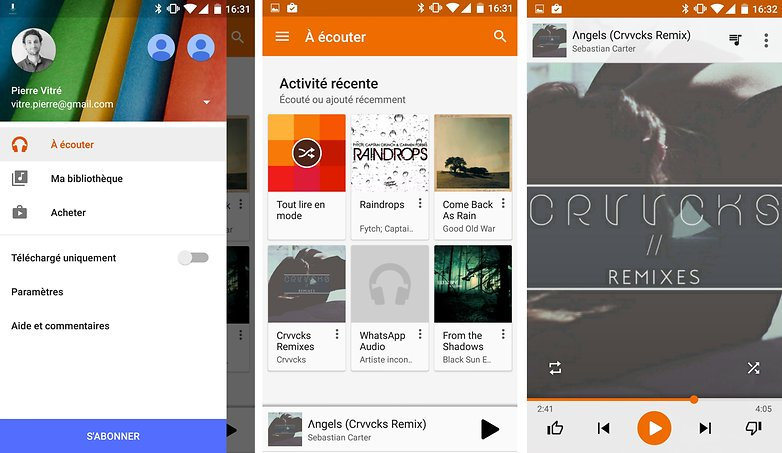 google play music francais