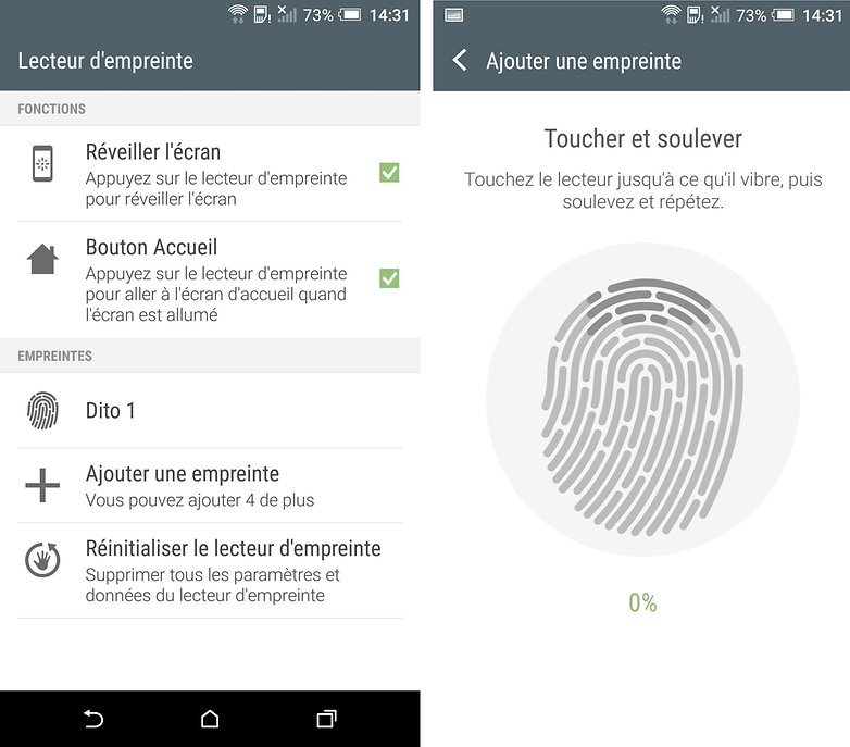 htc one a9 empreinte