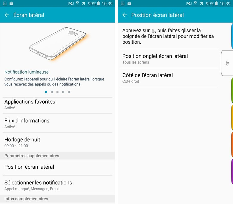s6 edge plus ecran