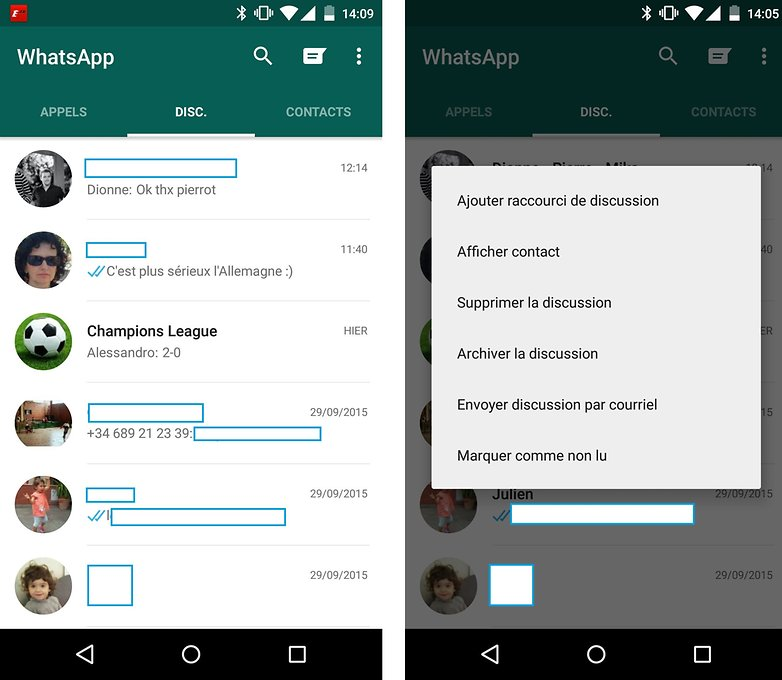 whatsapp messages non lu