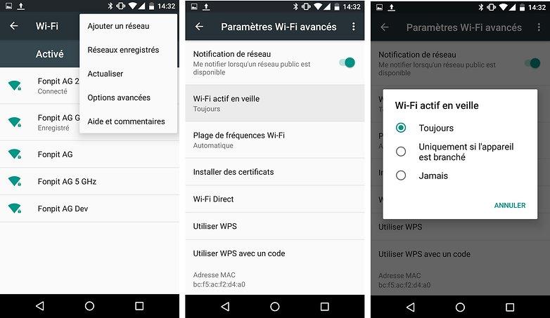 wifi actif en veille