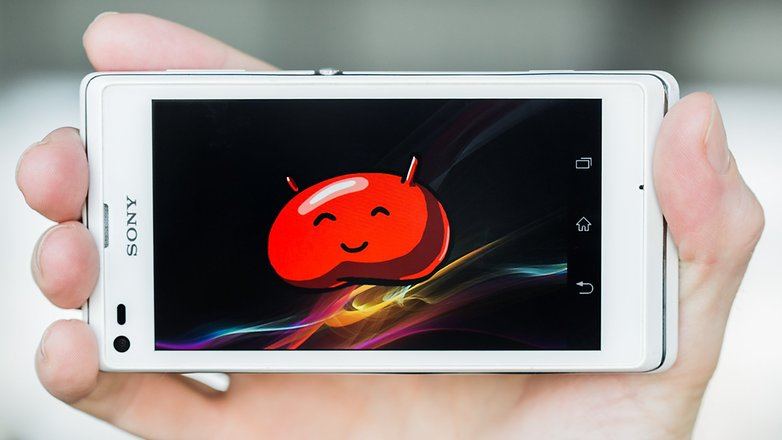 AndroidPIT Sony Xperia L Jelly Bean teaser