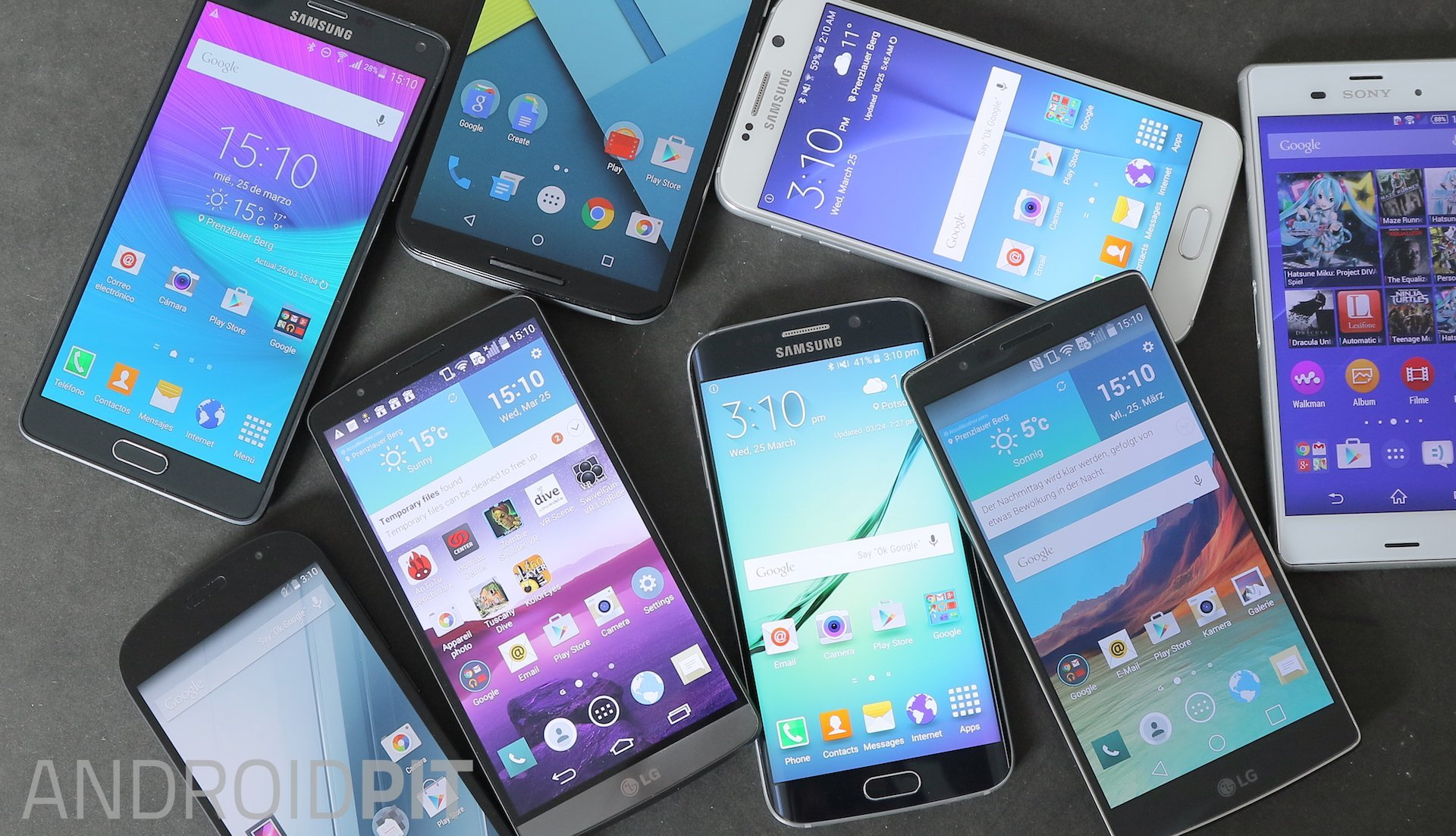 All types of smartphone screens 12
