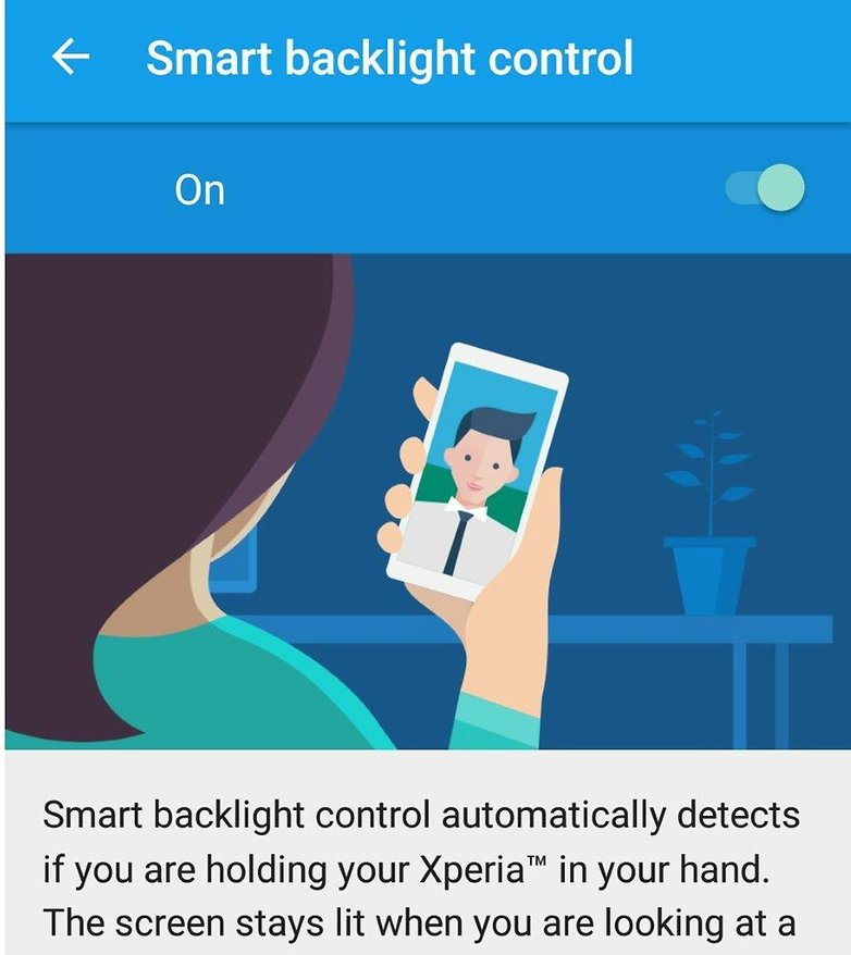 xperia z5 smart backlight control