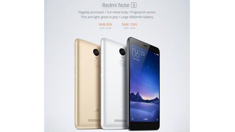 Xiaomi Redmi Note 3 preis