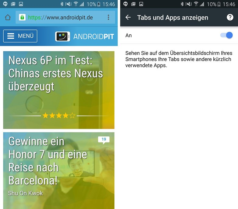 android lollipop google chrome app uebersicht