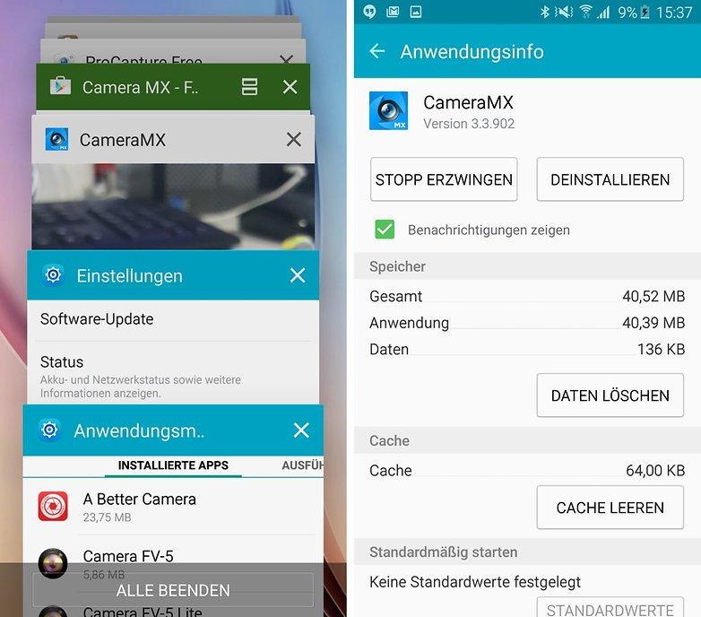 android lollipop schnellzugriff app info