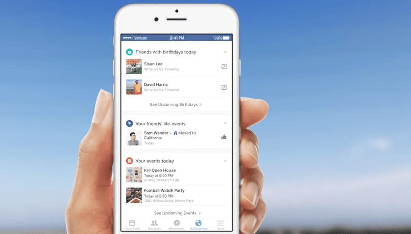 Facebooks neue Benachrichtigungszentrale