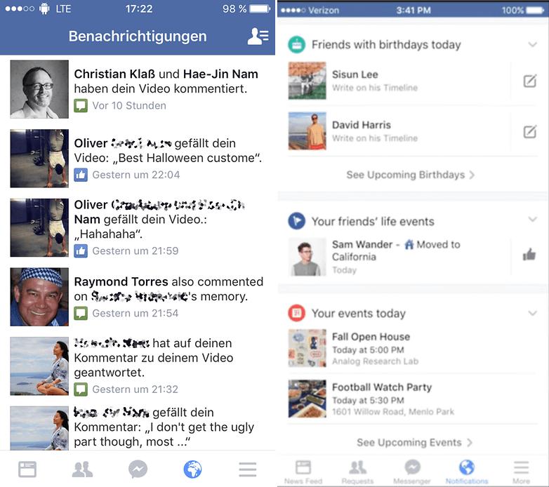 facebook new notification