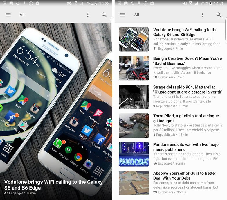 feedly screenshot home