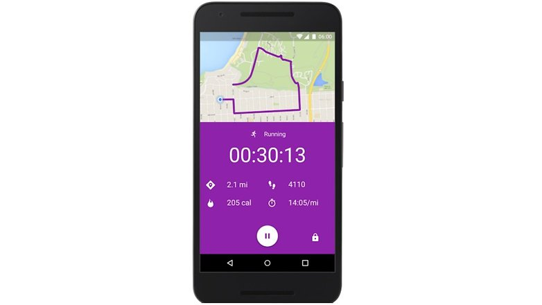 google fit running