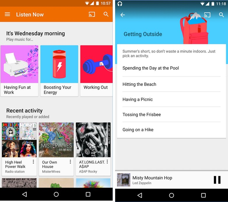 google play music update hero