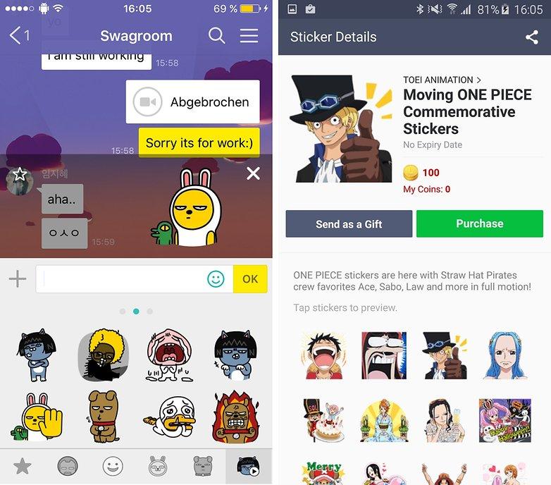 line kakaotalk animated emojis