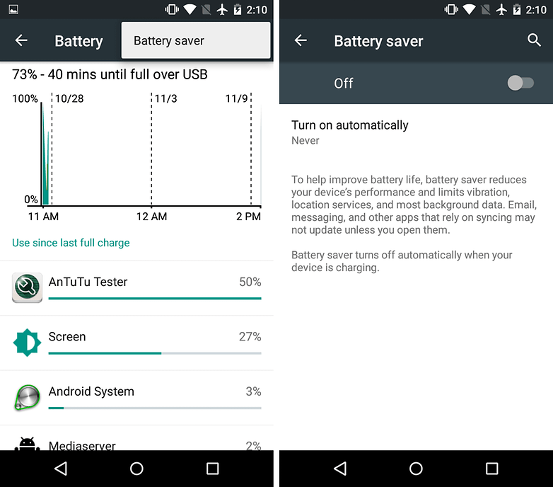 moto g battery saver