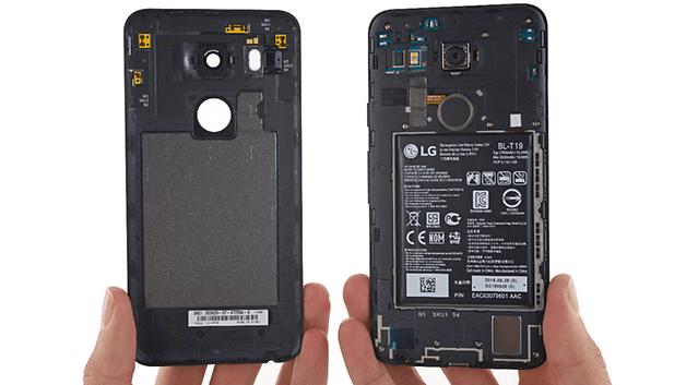 teste de desmontagem do Nexus 5x, ifixit, remover a tampa traseira