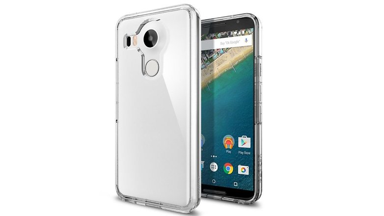 nexus 5x spigen transparent case