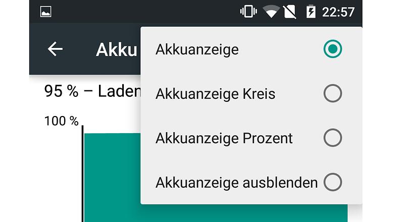 oneplus one akku anzeige
