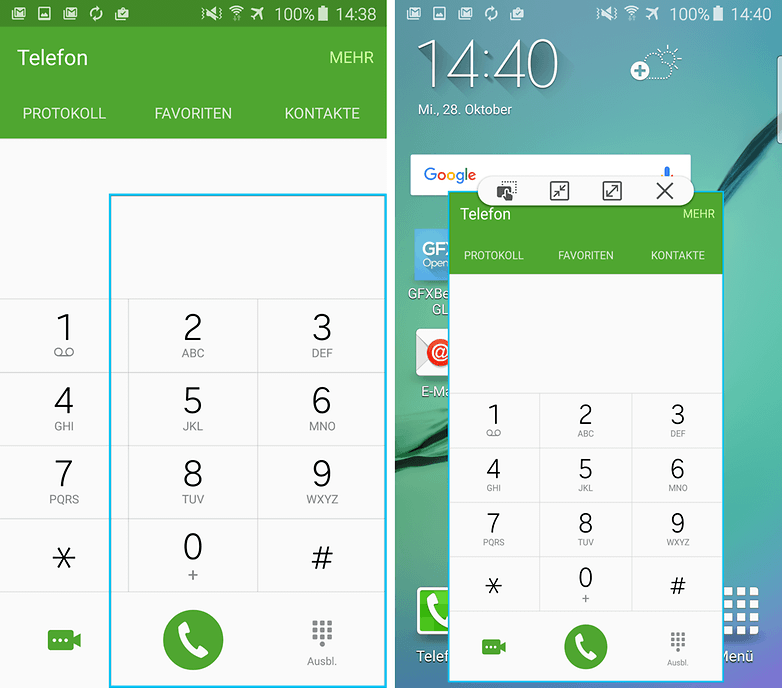 samsung galaxy s6 window mode