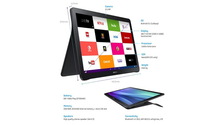 samsung galaxy view specs 1