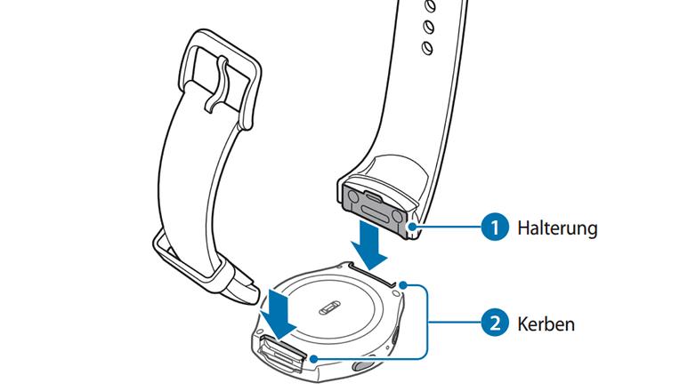 samsung gear s2 armband austauschen 3