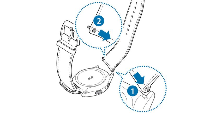 samsung gear s2 classic armband austauschen 4