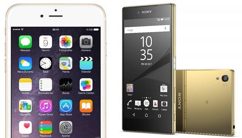 Apple iPhone 6s Plus vs. Sony Xperia Z5 Premium: 3D Touch vs. Pixelwahn