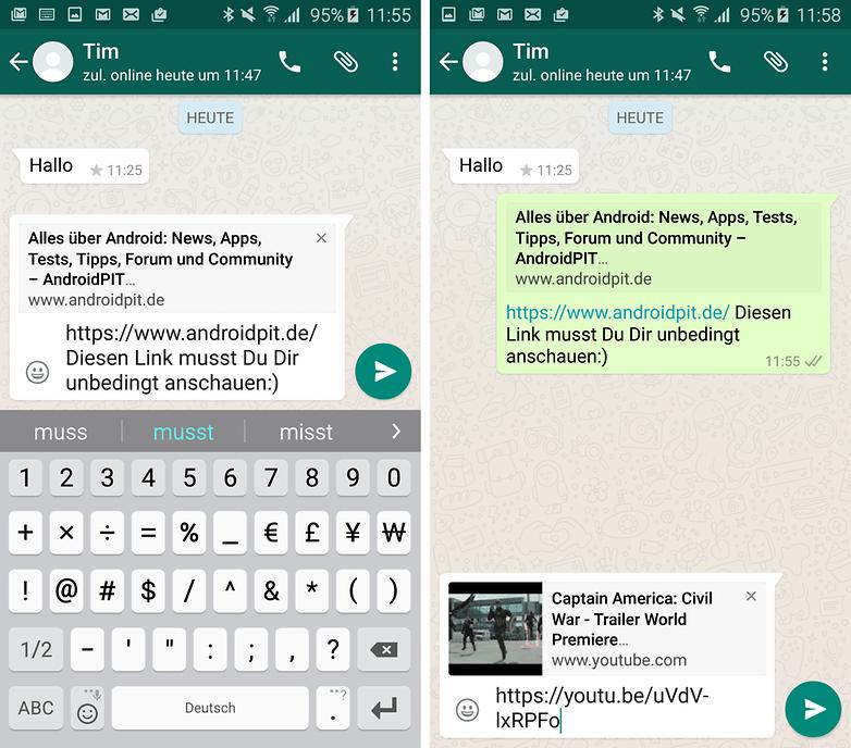 whatsapp update link vorschau