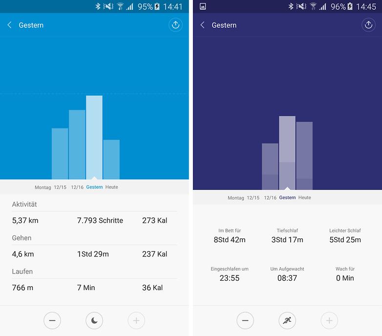 xiaomi band 1s companion app data