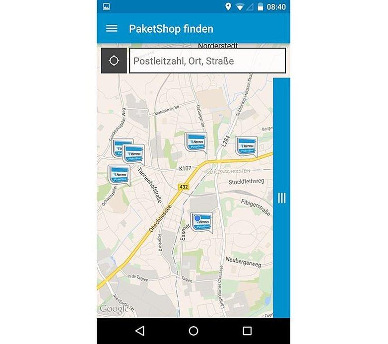 Hermes App PaketShop finden