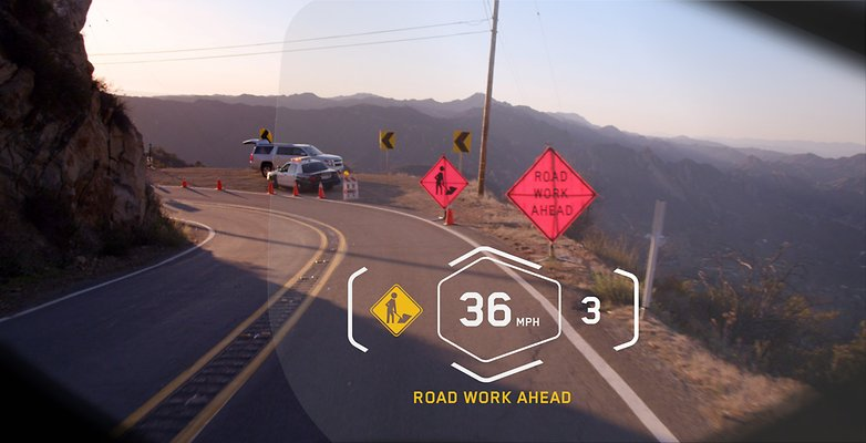 bmw vision head up display danger