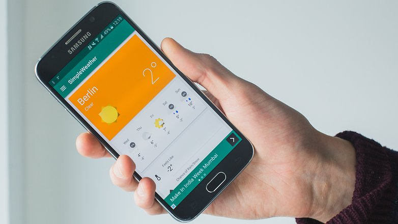 AndroidPIT best weather apps 2