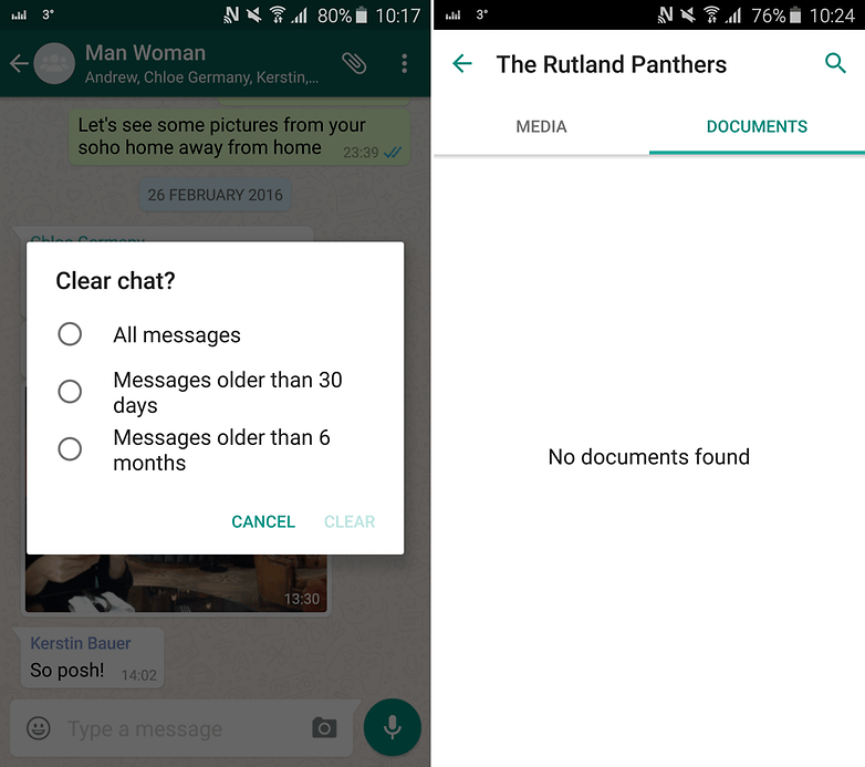 androidpit whatsapp clear chat documents