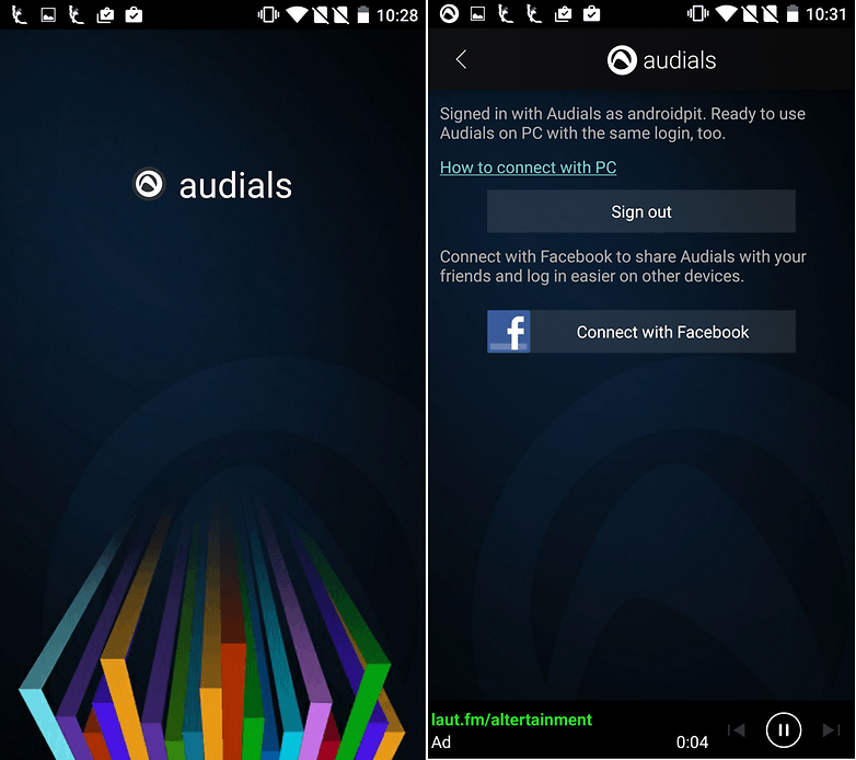 audials screenshot general