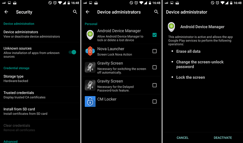 androidpit google play services security device admin