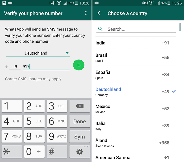 androidpit whatsapp authorization code international number