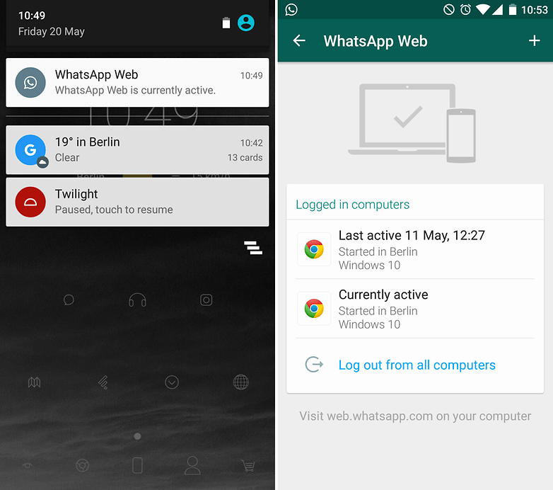 androidpit whatsapp beta web client notification