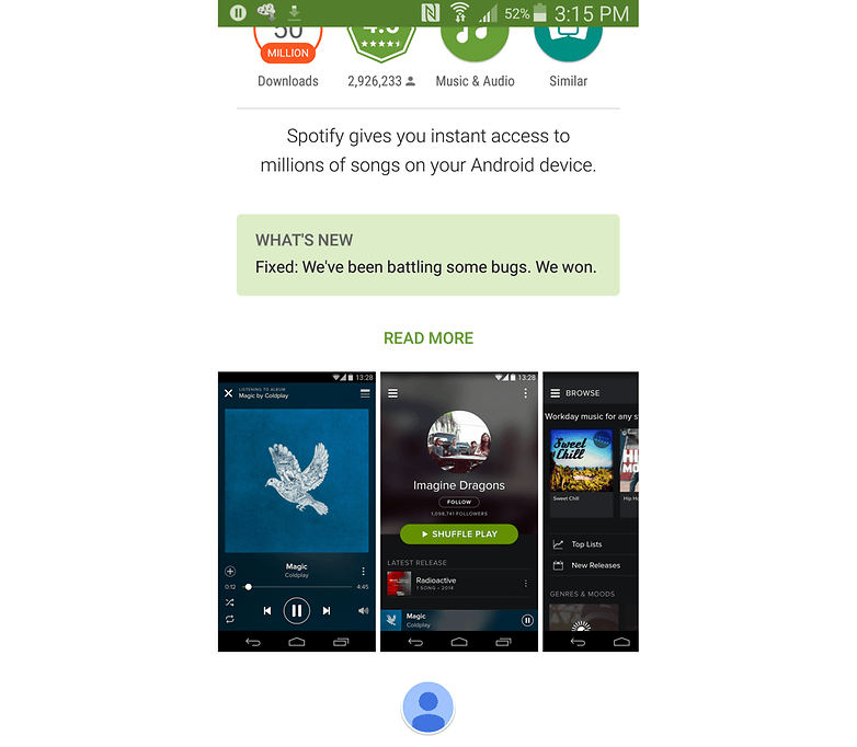 changelog spotify 2