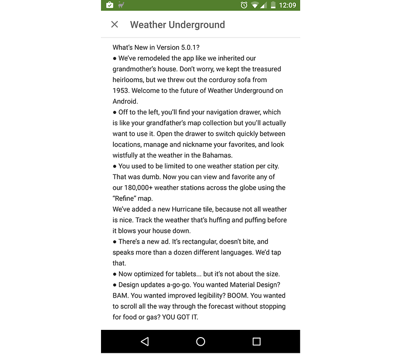 changelog weather underground 2