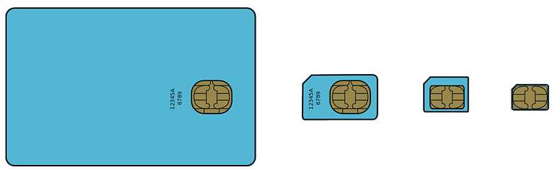 different sim cards
