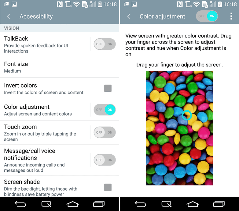 androidpit lg g3 tips and tricks color adjustment