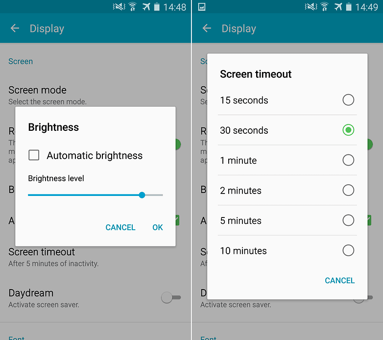 androidpit samsung galaxy s4 brightness screen timeout