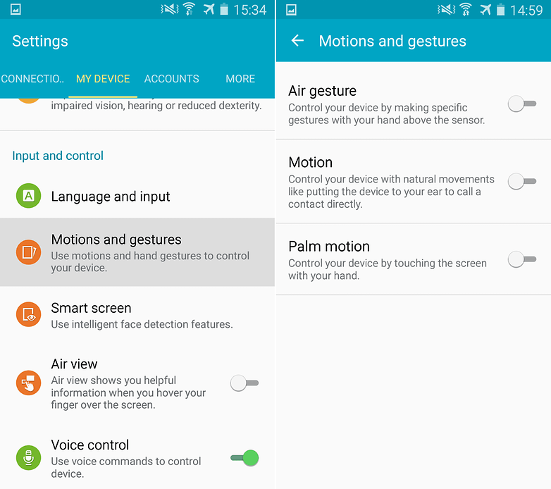 androidpit samsung galaxy s4 motions and gestures