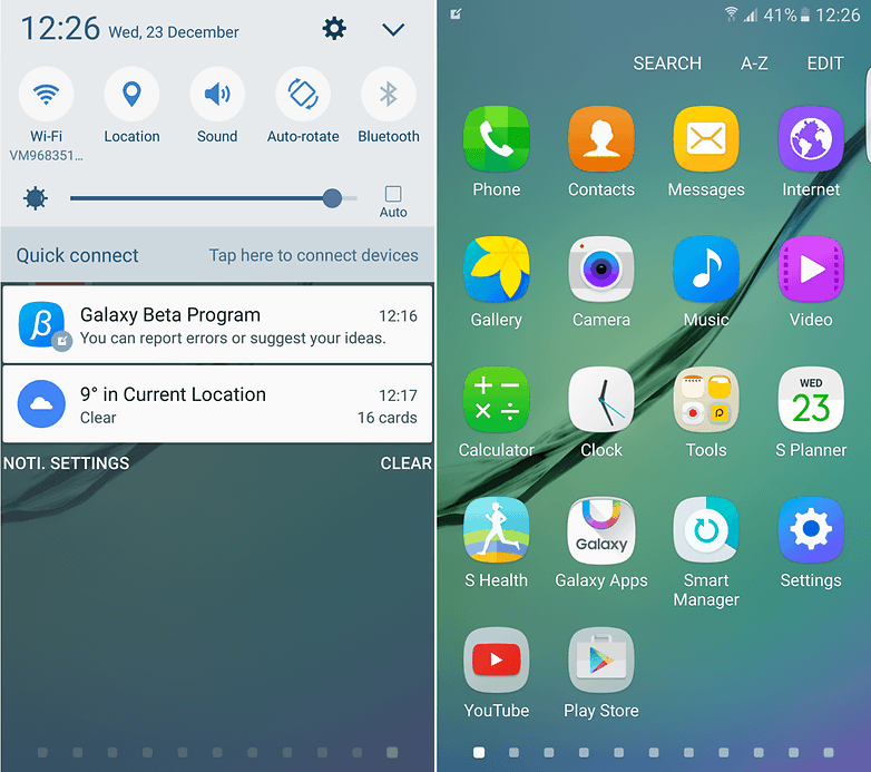 samsung galaxy s6 marshmallow beta screenshots