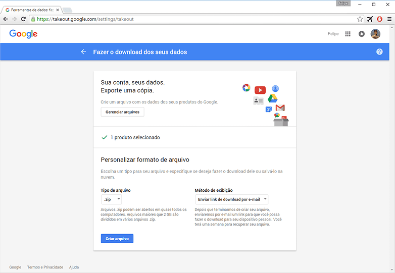 google takeout 3