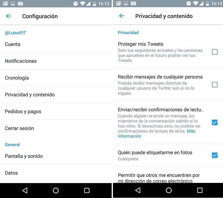 tuiter privacidad