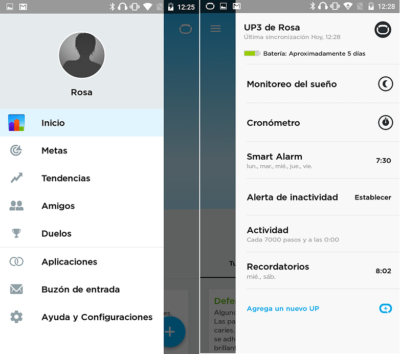 up3 app menu