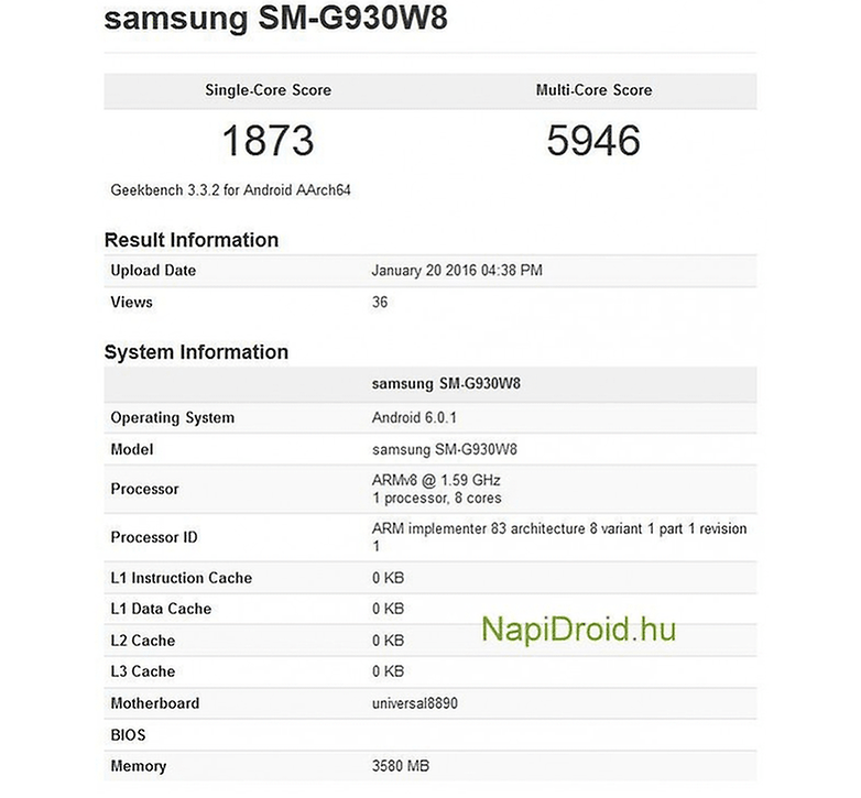 s7 geekbench results w782 w782