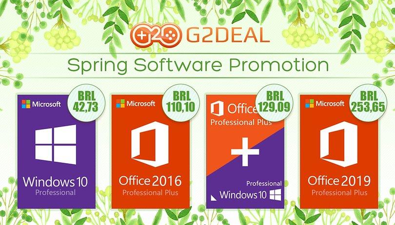 🎁 Promoção! Windows 10 Pro por R$ 42,73, Microsoft Office 2016 Pro por R$ 110,10 no G2deal!