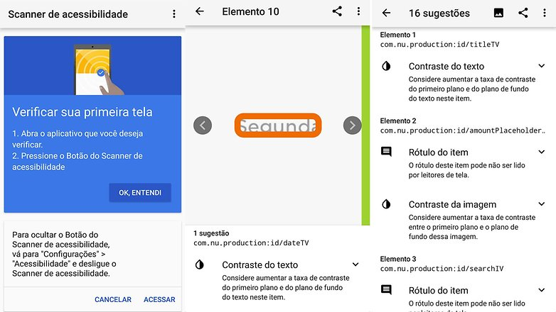 app google acessibility scan