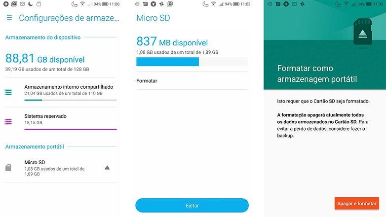 como preparar seu celular usado para a venda androidpitformat microsd ptbr